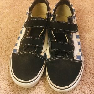 Vans checkered Velcro shoes